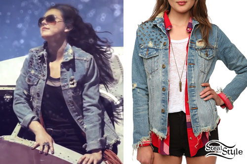 Sierra Kusterbeck: Ripped Denim Jacket