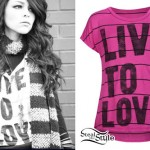 Cady Groves: Live To Love T-Shirt