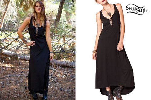 Cassadee Pope: Black Maxi Dress