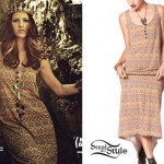 Cassadee Pope: Printed Maxi Dress