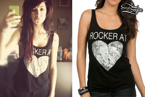 Christina Grimmie: Rocker At Heart Tank Top