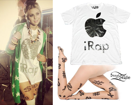 Colette Carr: iRap T-Shirt, Punctuation Tights