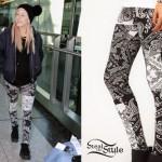 Ellie Goulding: Paisley Leggings