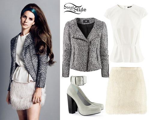 Lana Del Rey: H&M Bouclé Jacket Outfit