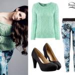 Lana Del Rey: H&M Mint Green Sweater