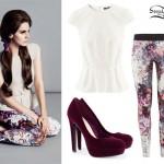 Lana Del Rey: H&M Peplum Top Outfit