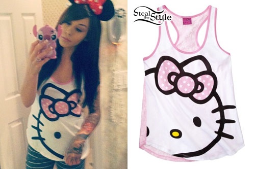 Lexus Amanda: Hello Kitty Tank Top