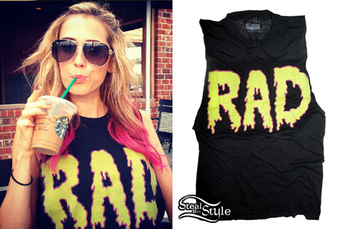 Mindy White: RAD Drip Tee