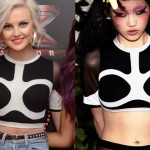 Perrie Edwards: Black And White Crop Top