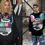 Rita Ora: Mickey Mouse Print Sweater