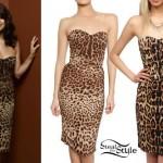 Selena Gomez: Leopard Print Dress