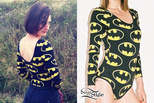 Yelle: Batman Bodysuit