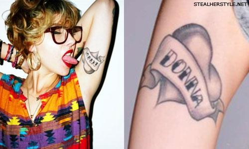 Lil Debbie mom heart tattoo