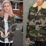 Ellie Goulding: Camo Jacket