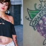Lil Debbie grapes tattoos
