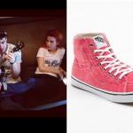 Hayley Williams: Red High-Top Vans