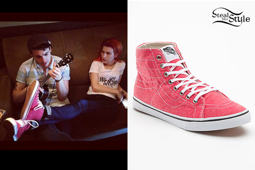 Hayley Williams  Washed High-Top Vans  e4dbdd317