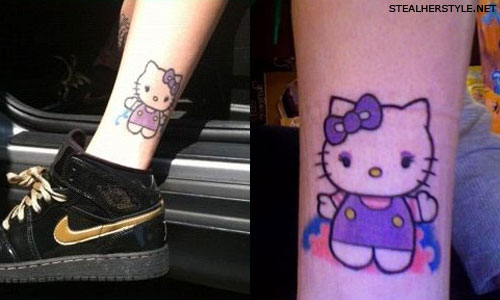 Lil Debbie Hello Kitty tattoo