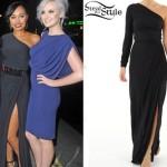 Leigh Anne Pinnock: Black Split Dress