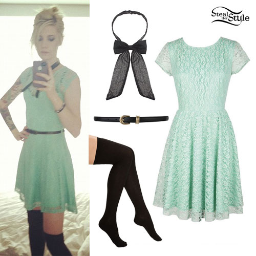Sammi Doll: Mint Lace Dress Outfit