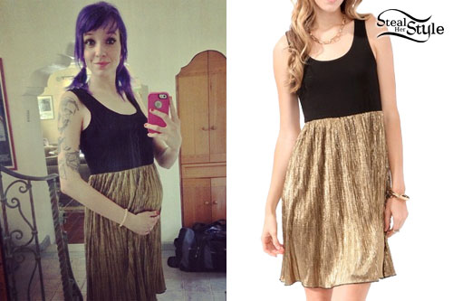 Sherri DuPree-Bemis: Black & Gold Dress