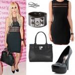 Taylor Momsen: Mesh Dress Outfit