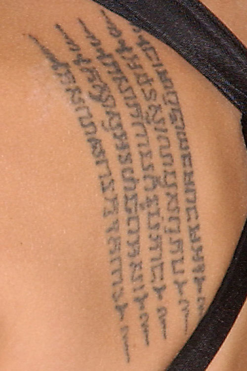 angelina jolie 39 s 16 tattoos meanings steal her style