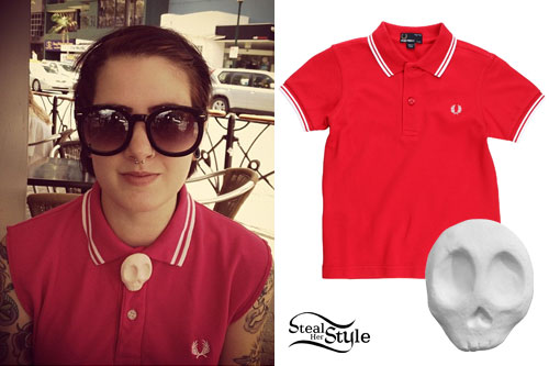 Beth Lucas: Fred Perry Polo & Charlavail Skull Button Cover