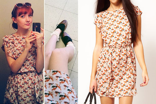 Christie DuPree: Fox Print Dress