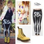 Colette Carr: Floral Blazer, Skeleton Leggings