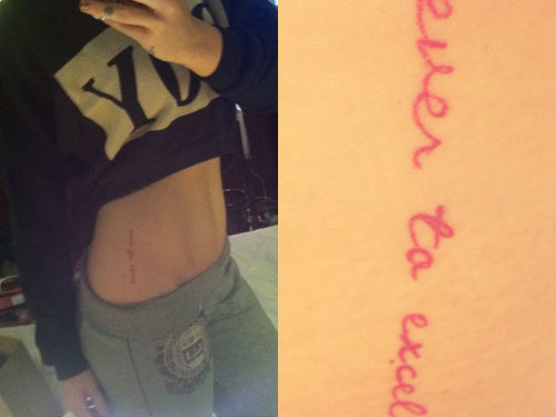 "JoJo ""Ever To Excel"" tattoo"