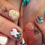 JoJo transcend triangle finger tattoo