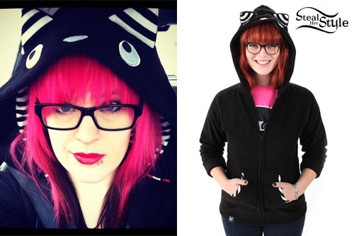Kieran Strange: Black Cat Hoodie