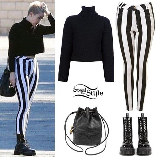 zasznurować atrakcyjna cena konkurencyjna cena Miley Cyrus: Striped Jeans | Steal Her Style
