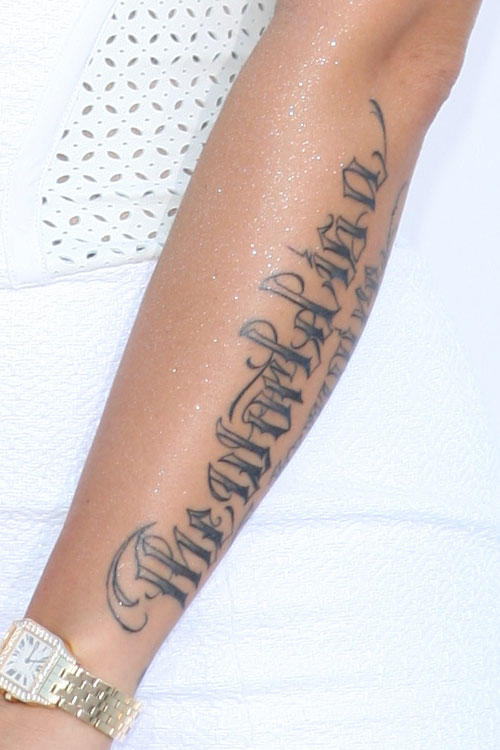"""Amber Rose's """"The World Is A Vampire"""" Forearm Tattoo   Steal Her Style"""