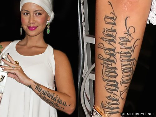 Amber Rose S 20 Tattoos Meanings Steal Her Style Page 2