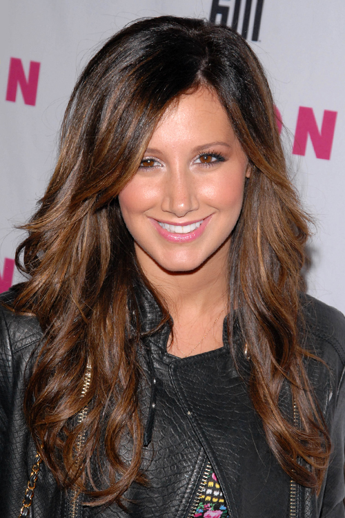 ashley tisdale brown hair with highlights ashley tisdale