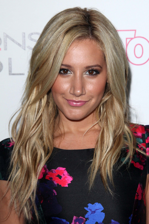 Ashley Tisdale Wavy Ash Blonde Hairstyle Steal Her Style