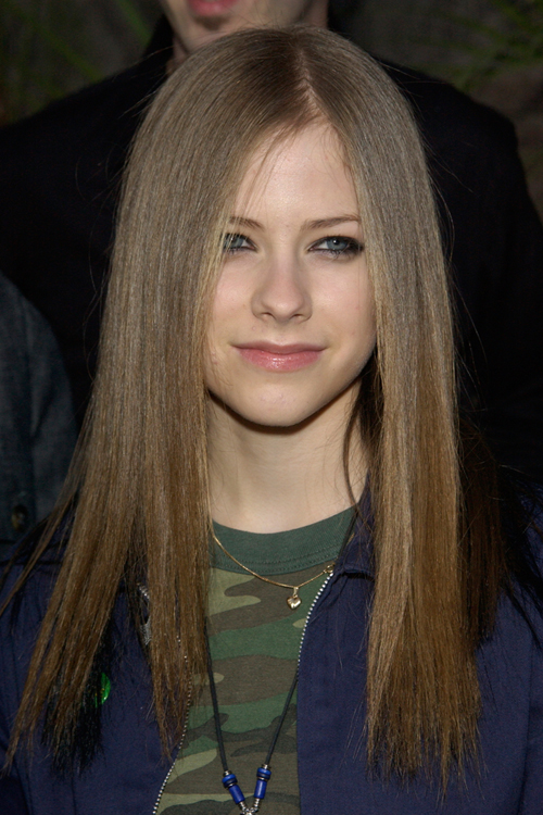 Avril Lavigne Straight Light Brown Hairstyle Steal Her Style