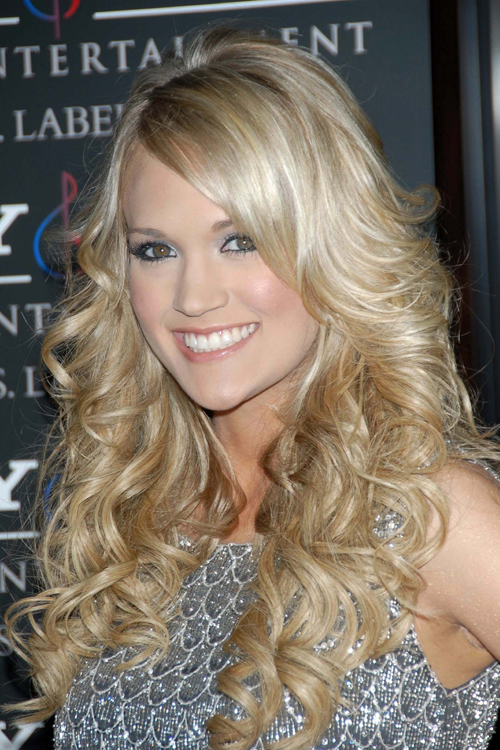 carrie underwood curly ash blonde hairstyle steal her style