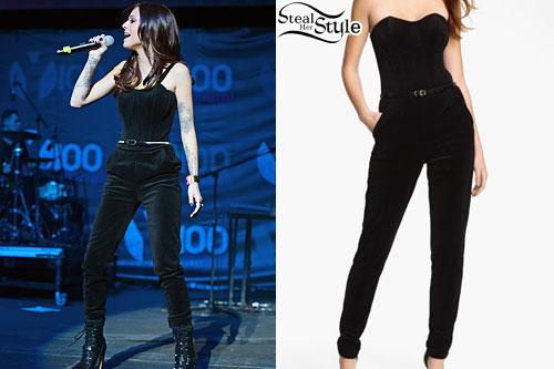 Cher Lloyd: Velvet Jumpsuit
