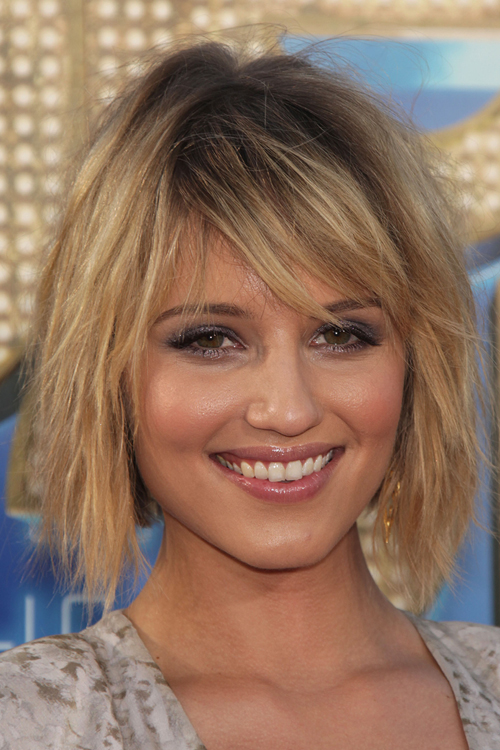 dark blonde hair styles dianna agron teased golden roots 9552 | diana agron hair 8
