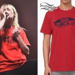 Jenna McDougall: Red Vans T-Shirt