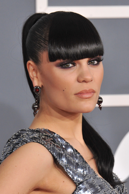 Jessie J Straight Black Ponytail Hairstyle | Steal Her Style