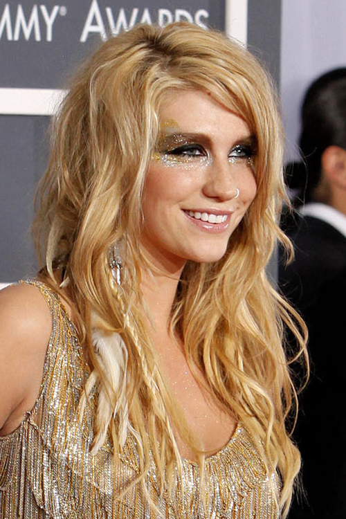 Kesha Wavy Golden Blonde Hair Feathers Mini Braids
