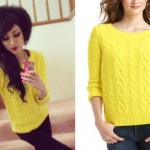 Melissa Marie Green: Yellow Cable Sweater