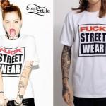 Porcelain Black: Fuck Street Wear Tees