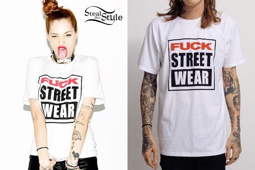 Porcelain Black: Fuck Street Wear Tees