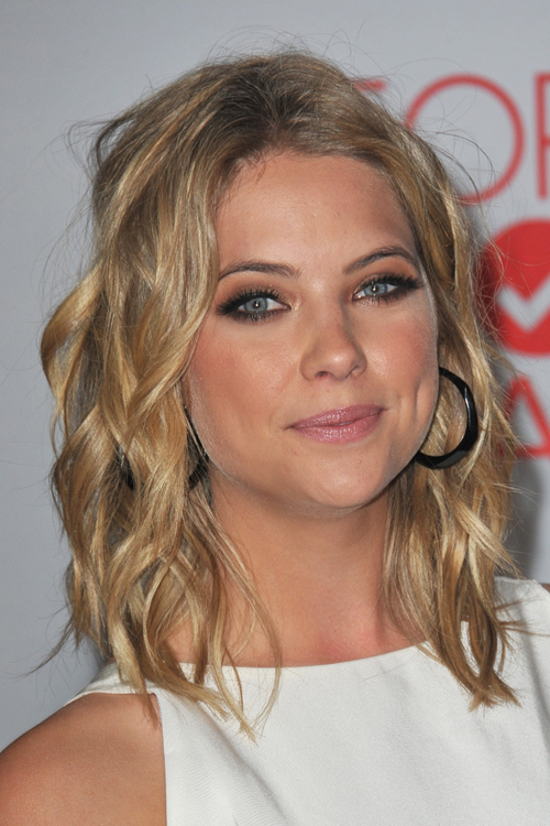 Ashley Benson Curly Honey Blonde Hairstyle Steal Her Style