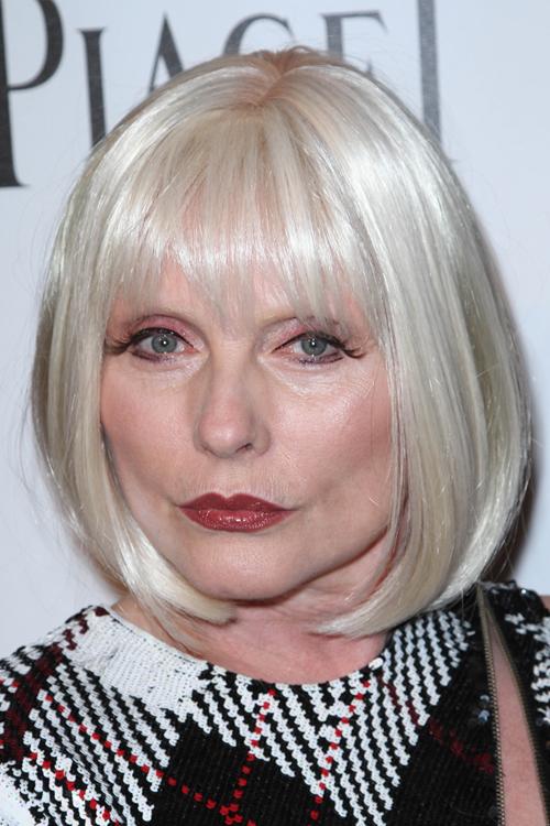 Debbie Harry Straight Platinum Blonde Bob Hairstyle
